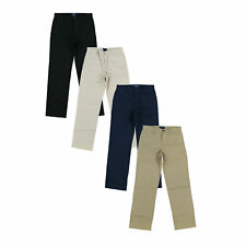 Polo Ralph Lauren Boys Chinos Flat Front Bottoms New Nwt Khaki Navy S M L Xl Xxl