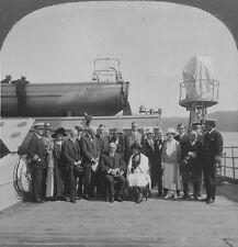 Keystone Stereoview President Harding & Party Aboard the Henderson: AK Trip 1923