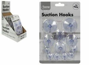 PMS 12 x Suction Hooks Kitchen Home Glass Windows Sucker Vacuum(839094)