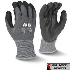 Ansi A4 Cut Resistant Work Glove Black Polyurethane Coated Palm 13 Gauge Shell