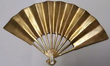 HEAVY All Solid Brass Oriental Design Retro Decor Wall Hanging Fan Display
