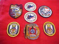 ( 7 )  US Navy Boat patches - Dealer lot of patches ships crests