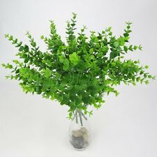 Green Artificial Fake Plastic Eucalyptus Plant Flowers Home Table Party Decors