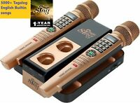 2020 MAGIC SING Karaoke E5+ 5145 Tagalog/Eng songs WiFi 2 Wireless Mic 1YR sub