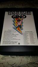 Gino Vannelli Love Of My Life Rare Original Promo Poster Ad Framed!
