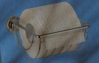 WENKO BOVINO Toilettenpapierhalter ohne Bohren ohne Deckel silber Toilette Papie