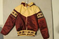 V7223 The Line 70's Down Brown/Cream Yoke down Southwestern Jacket Women's 10