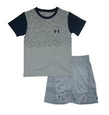 Under Armour Boys S/S Rhino Gray Dry Fit Top 2pc Short Set Size 5