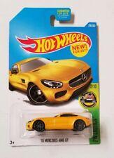 2017 Hot Wheels Error Backwards * '15 Mercedes-AMG GT Yellow * NIP 1:64 Scale