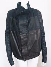 """$2645 Authentic RICK OWENS DRKSHDW """"EXPLODER SLICED"""" Denim & Leather Jacket L"""