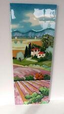 Ceramic tile wall art - Lavender Fields