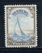 """BERMUDA 109 SG112 MH 1938-52 2p blue & sepia Defin Yacht """"Lucie"""" Cat$53"""