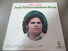 "SEALED Rare Hawaiian LP- ""FOR YOU"" Joseph Kalahanauokalakaua Serrao- Hula HS-572"