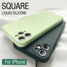 For iPhone 12 Pro Max 11 XR XS 7/8 Plus Square Liquid Silicone Phone Case Cover