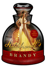 Brandy SHAPED Hildebrandt Metal Sign Sexy PINUP Garage Art SIGNED + FREE PRINT
