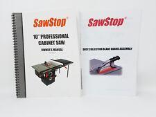 "Sawstop 10"" Professional Cabinet Saw Owner's Manual PCS175"
