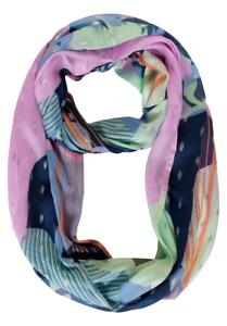 CECIL - Zarter Loop mit Folienprint in Deep Blue Damen Schal Mehrfarbig Schimmer