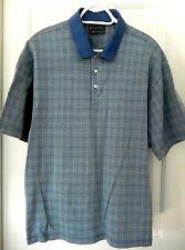 Arnold Palmer Signature Collection Polo/Golf Shirt-XL, blue plaid