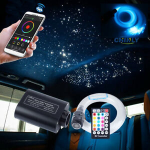 Car Fiber Optic Light 16W Smart Bluetooth Music Control Star Ceiling Lights 2~3M