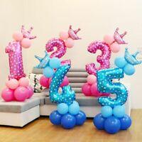 fournitures l'hélium gonflable nombre ballon en aluminium rose et bleu chiffres