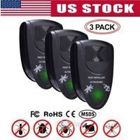 1/3 Electronic Ultrasonic Riddex Plus Mosquito Rat Rodent Mice Bug Pest Repeller