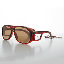 Rare Vintage Polarized Fishing Glasses with Glass Lens - Moby Tortoise