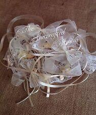 RIBBON, LACE & BOWS/Mini Bows & Roses BUNDLE /VINTAGE/RUSTIC/WEDDING/BABYIVORY