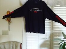 NAVY Rapala 3x LONG SLEEVE T SHIRT WORKS WHERE CELL PHONES DON'T