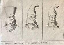 Zoroastre Têtes de Prêtres Gaures Perse Bernard Picart 1723 XVIIIe zoroastrisme