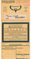 Drucksache DR 1924 Werbe Klappkarte Architekten Karlsruhe Baden    (B7/60)