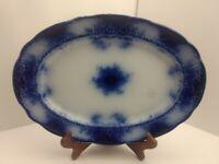 """Alfred Meakin ~ KELVIN Flow Blue 14"""" Oval Serving Tray Platter Dish Plate"""
