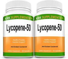 2x Lycopene 50mg Prostate Support Antioxidant Carotenoids