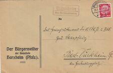 HARXHEIM, Briefumschlag 1936, Der Bürgermeister Stempel