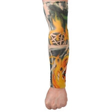 Hot Temporary Cool Fake Tattoo Slip On Stretch Seamless Arm Sleeves Stockings
