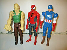 DC COMICS ACTION FIGURE BUNDLE X 3 - CAPTAIN AMERICA, SPIDERMAN & SANDMAN