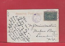 Halifax DLO Dead Letter Office oval and steel circle 1c Tercentenary postcard 08