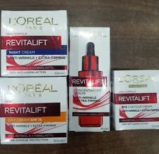 Loreal Revitalift Anti-Wrinkle 4pc Set Day with SPF15, Night, Eye, and Serum