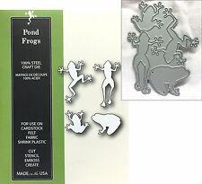 Frog metal die set Pond Frogs Poppystamps cutting dies 1130 Animals toad