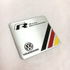VOLKSWAGEN R line Trunk Side Rear Tail Badge Emblem Embossed Aluminium Sticker