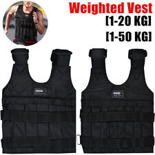 20/50kg Adjustable Weighted Workout Vest Empty Waistcoat Fitness Training Boxing