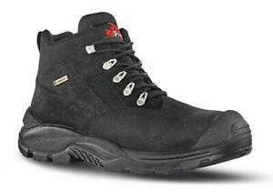 U-Power Dude Gore-Tex Mens Safety Lace Up Work Boots Leather  Black