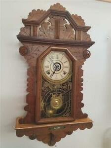 "Ingraham ""Crown Drop"" Hanging Kitchen Clock"