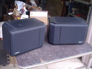 Bose 301 Series IV Black Direct Reflecting Stereo Speakers Nice!