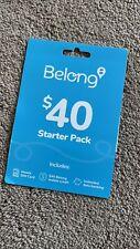 Belong $40 SIM, 40+40GB data*, Unlimited Call&Text, Bonus $20, On Telstra Networ