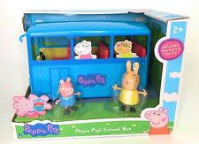 New Peppa Pig School Bus toy with Miss Rabbit and Peppa Pig