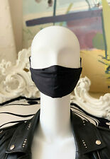 Stoffmaske, Behelfsmaske, Mundschutz in Schwarz für Erwachsene