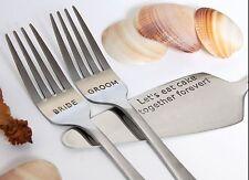 Wedding Forks and Cake Server, Personalized Cake Server and Forks Set
