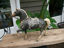 Vintage Breyer Horse with Chain Reins and Saddle