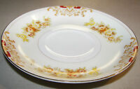 """Vintage Meito Hand Painted China 5 1/2"""" Saucer Yellow & Pink Flowers"""