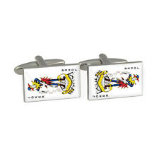 Joker Playing Card Suite Cufflinks Gift Boxed jester pair of jokers BNIB
